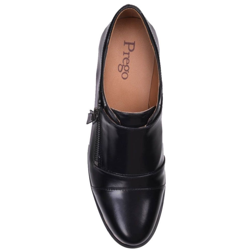 Туфли Prego из натуральной глянцевой кожи на молнии