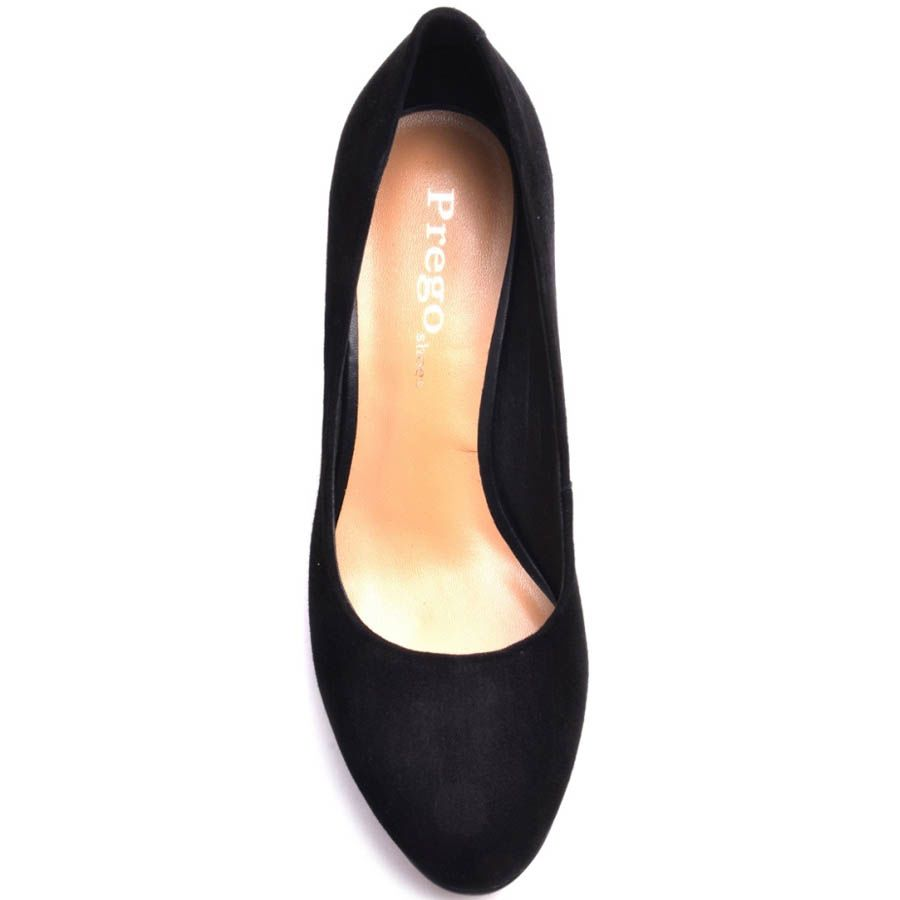 Туфли Prego замшевые с круглым носком и металлической вставкой