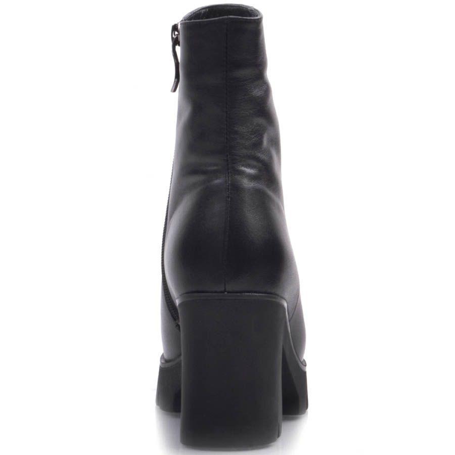 Ботильоны Prego черного цвета с толстым устойчивым каблуком высотой 8 см