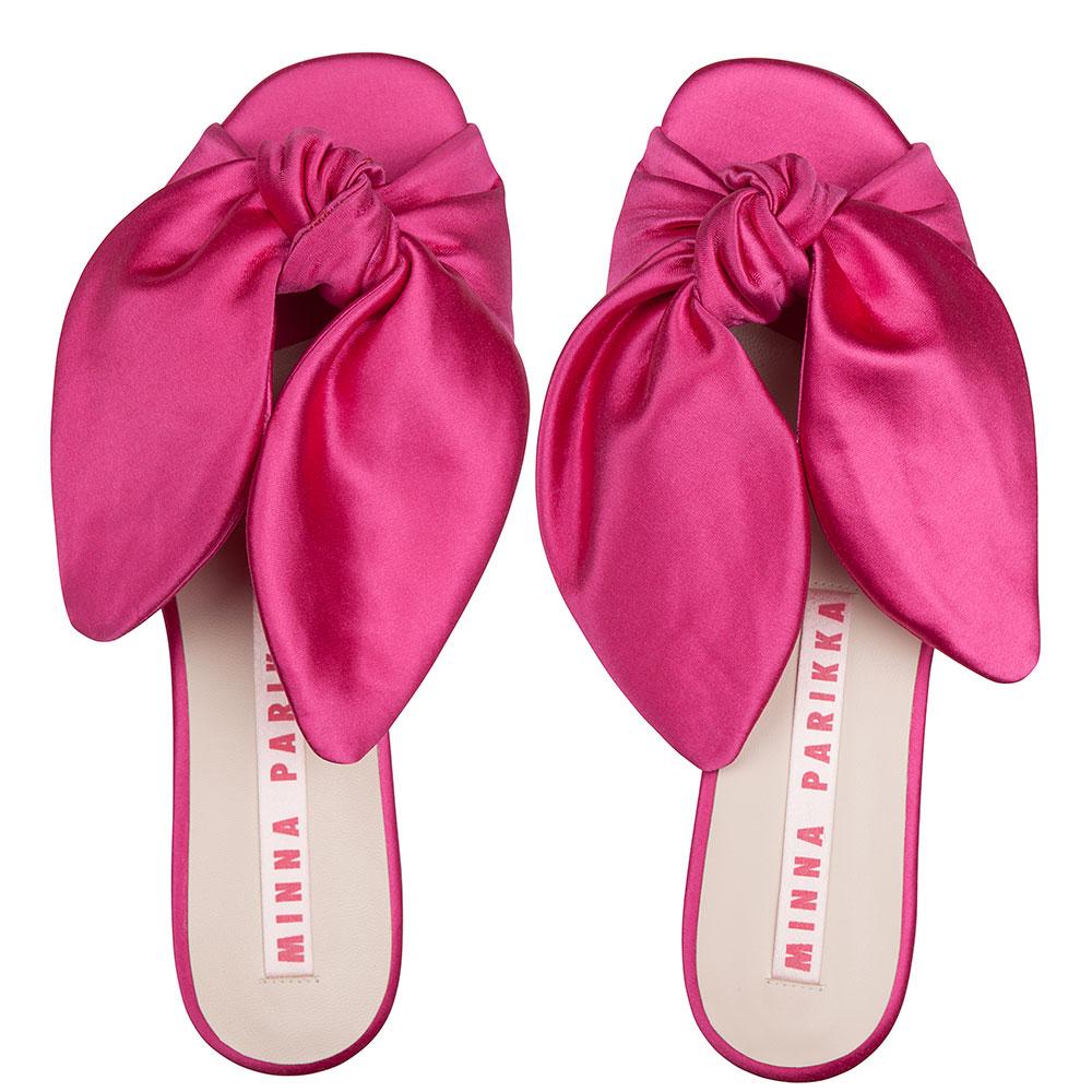 Шлепанцы Minna Parikka с ушками розового цвета