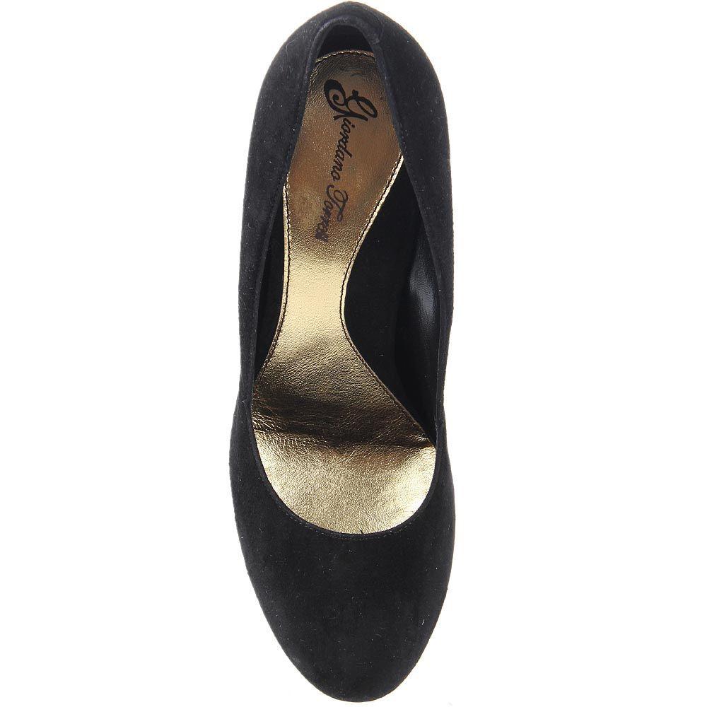 Замшевые туфли Giordano Torresi Austria на устойчивом каблуке