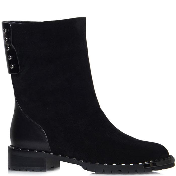 Высокие замшевые ботинки Prego черного цвета