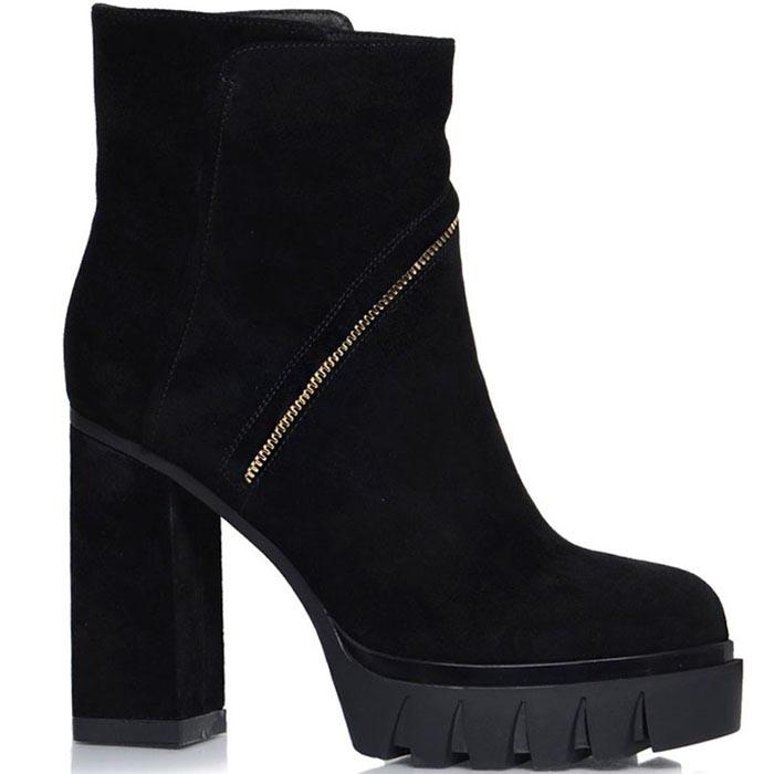 Ботинки Prego черного цвета с золотистым декором