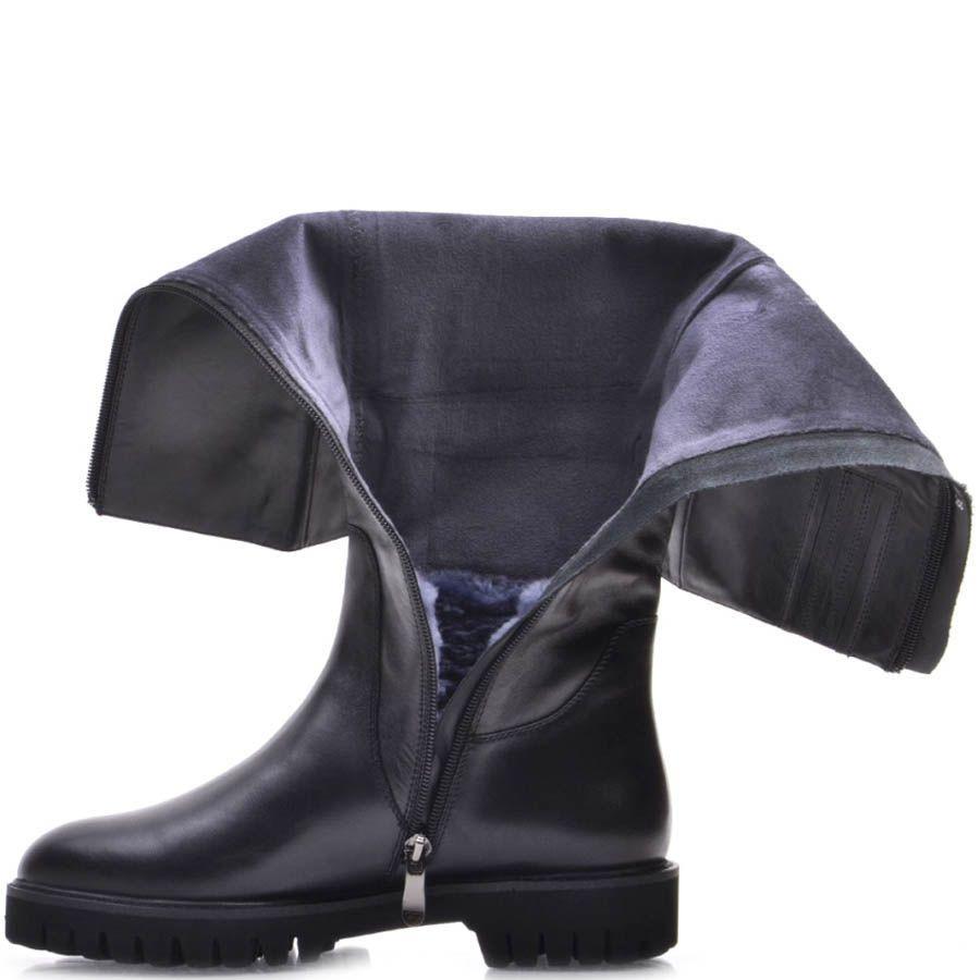 Сапоги Prego зимние кожаные с прямой рельефной подошвой