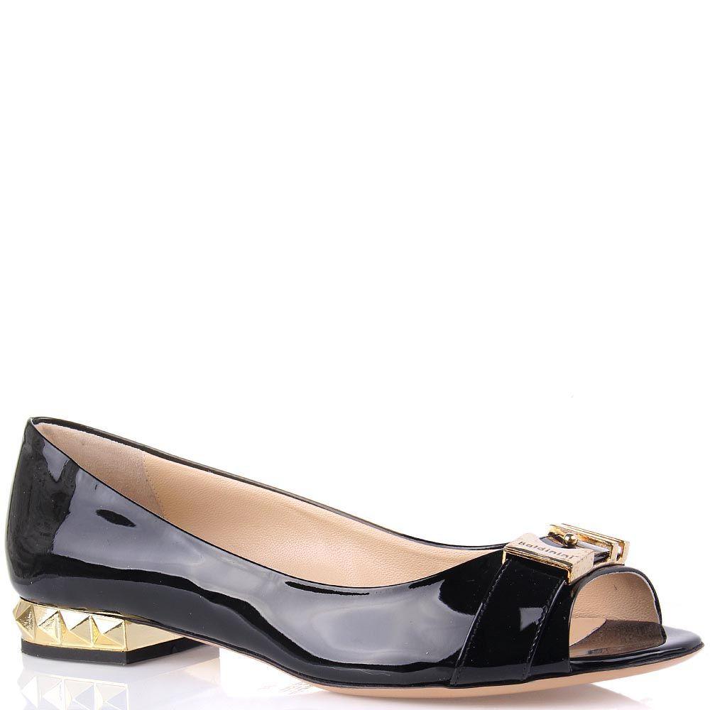 Лаковые туфли Baldinini на низком каблуке