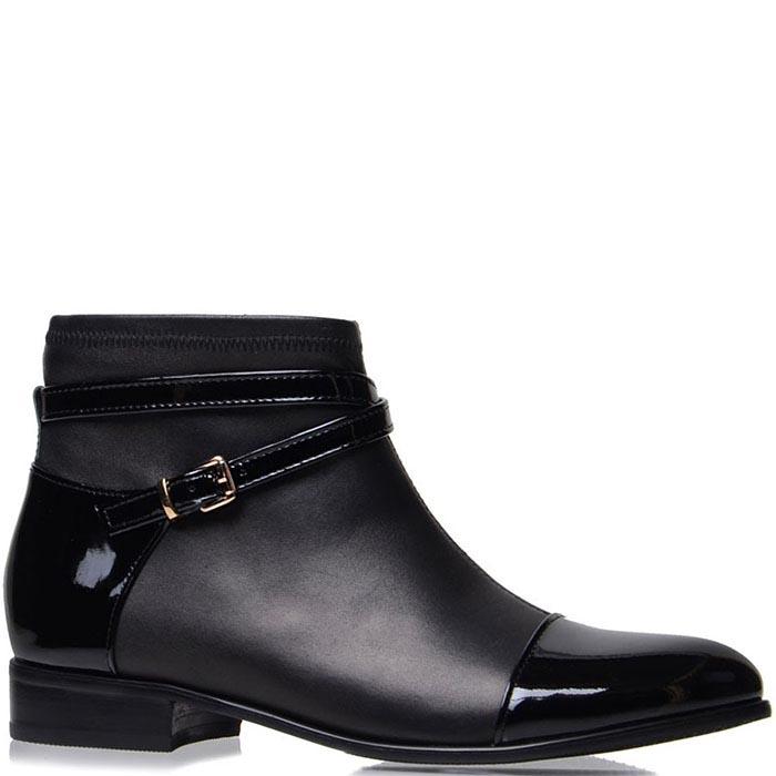 Ботинки Prego черного цвета с декоративным ремешком