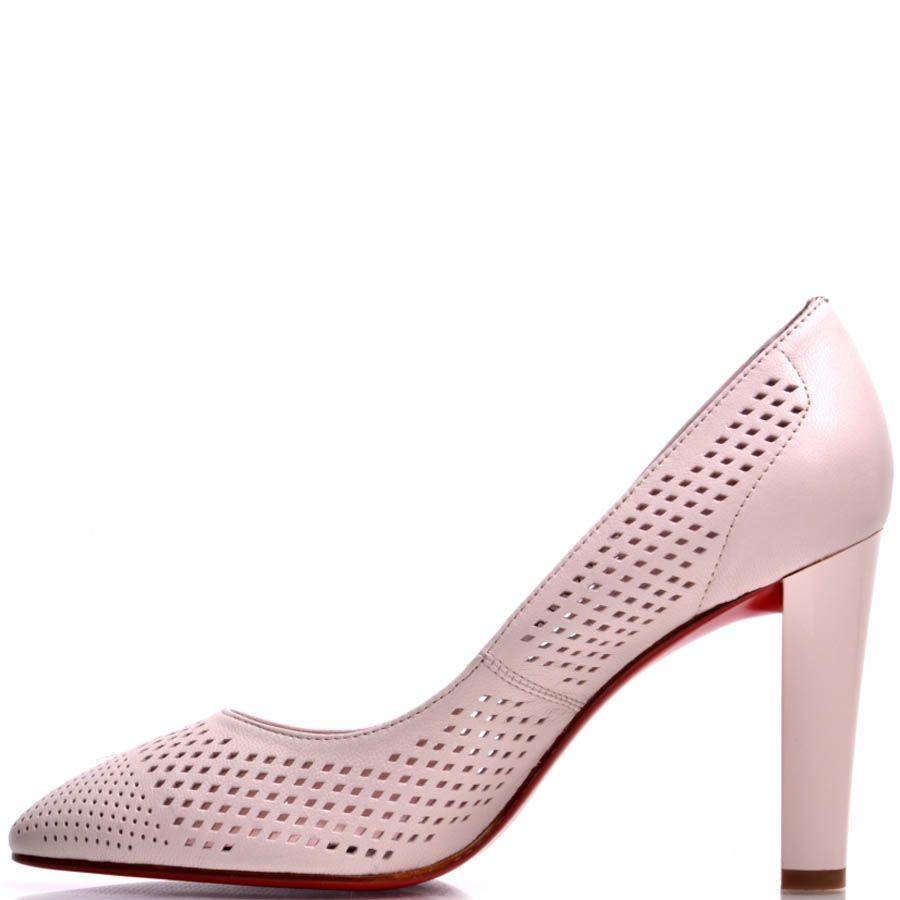 Туфли Prego нежно-розового цвета с перфорацией