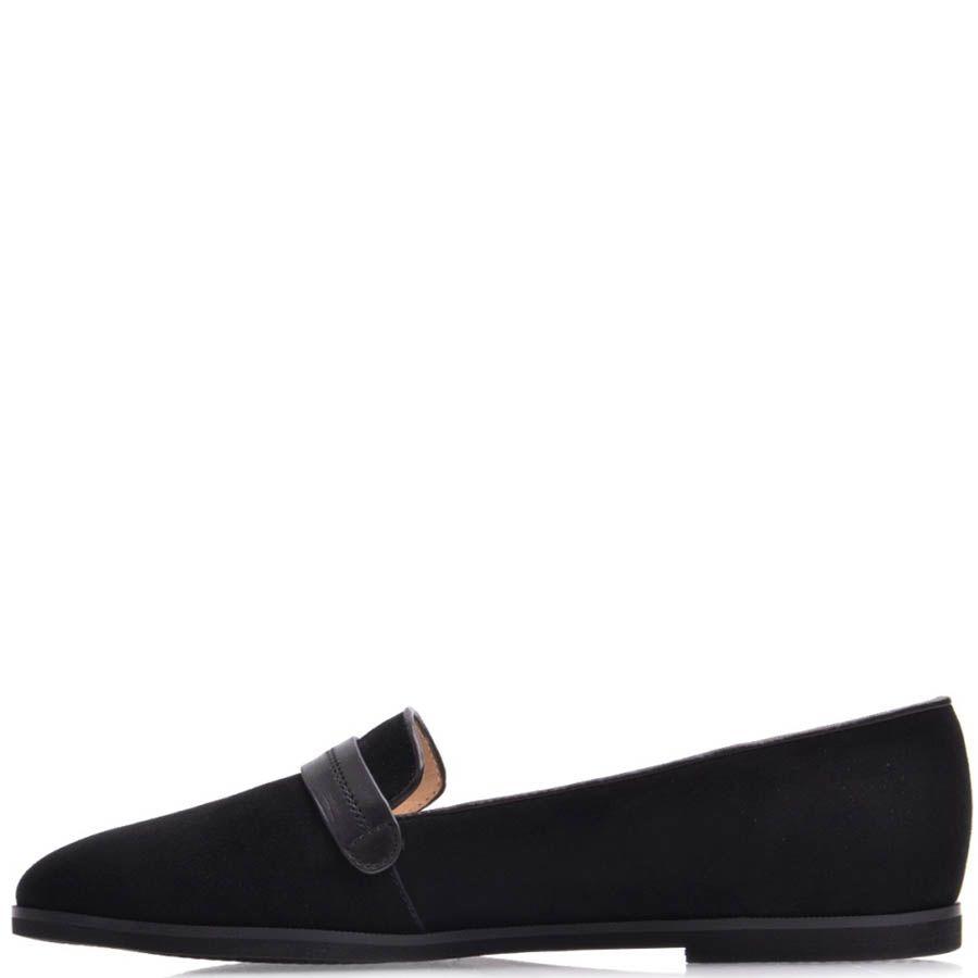 Туфли Prego женские замшевые с кожанной декоративной перемычкой