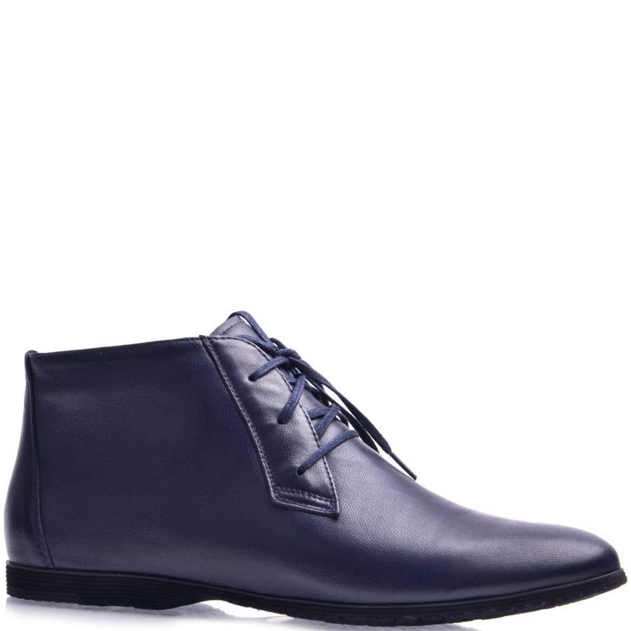 Ботинки Grado женские кожаные темно-синего цвета