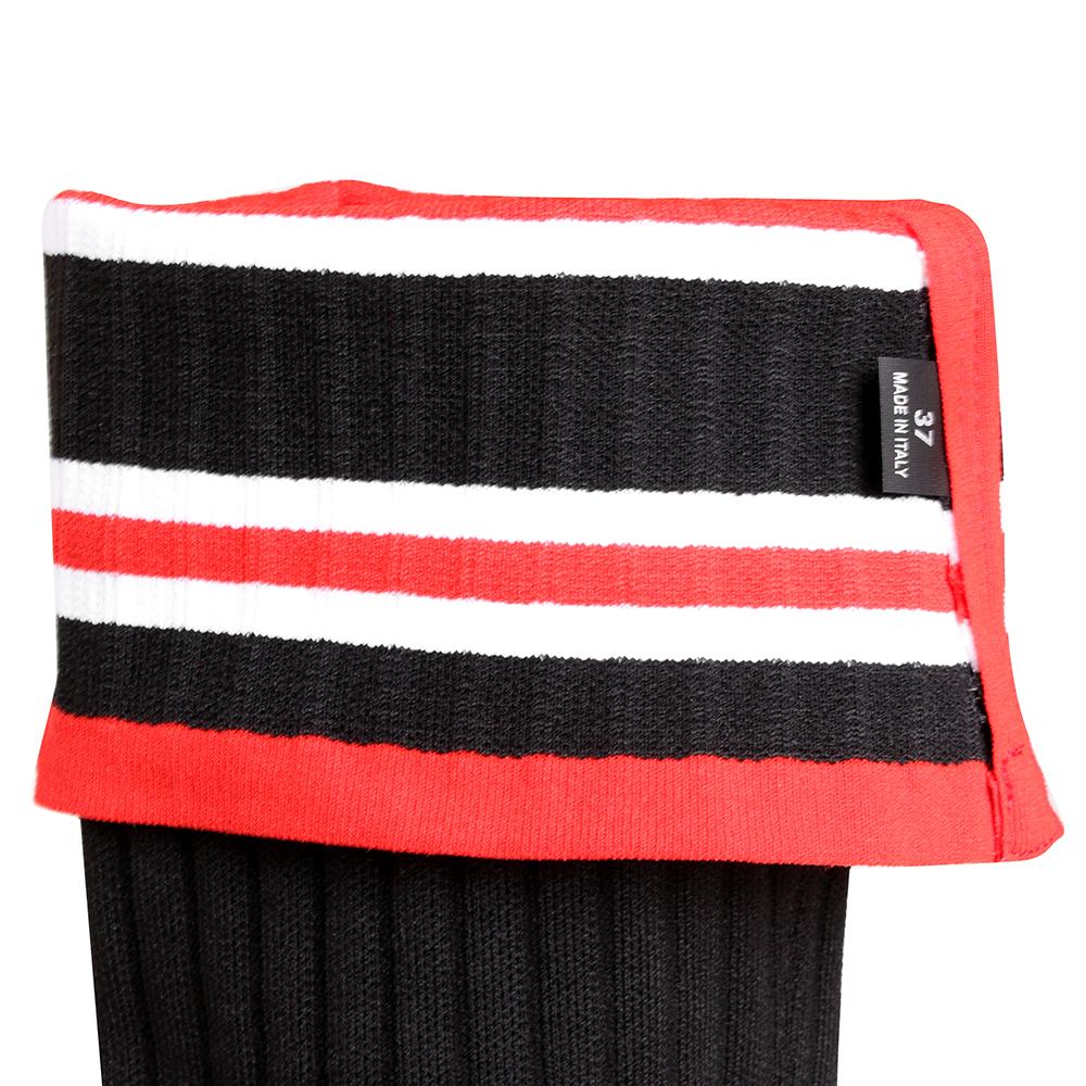 Ботфорты Givenchy черного цвета на низком каблуке