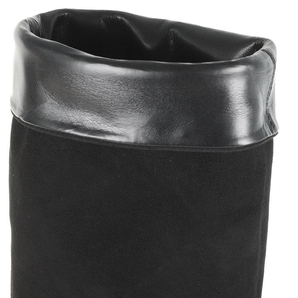 Сапоги-ботфорты Bianca Di замшевые черные