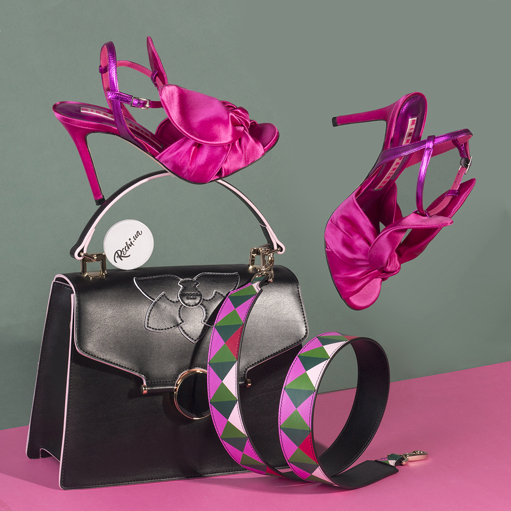 Босоножки на шпильке Minna Parikka розового цвета