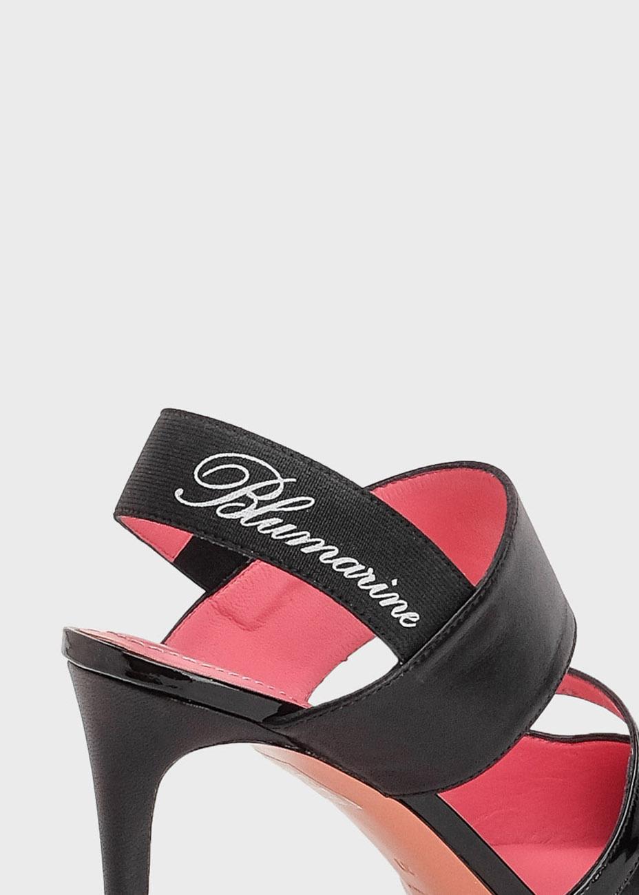 Черные туфли-слингбеки Blumarine с острым носком