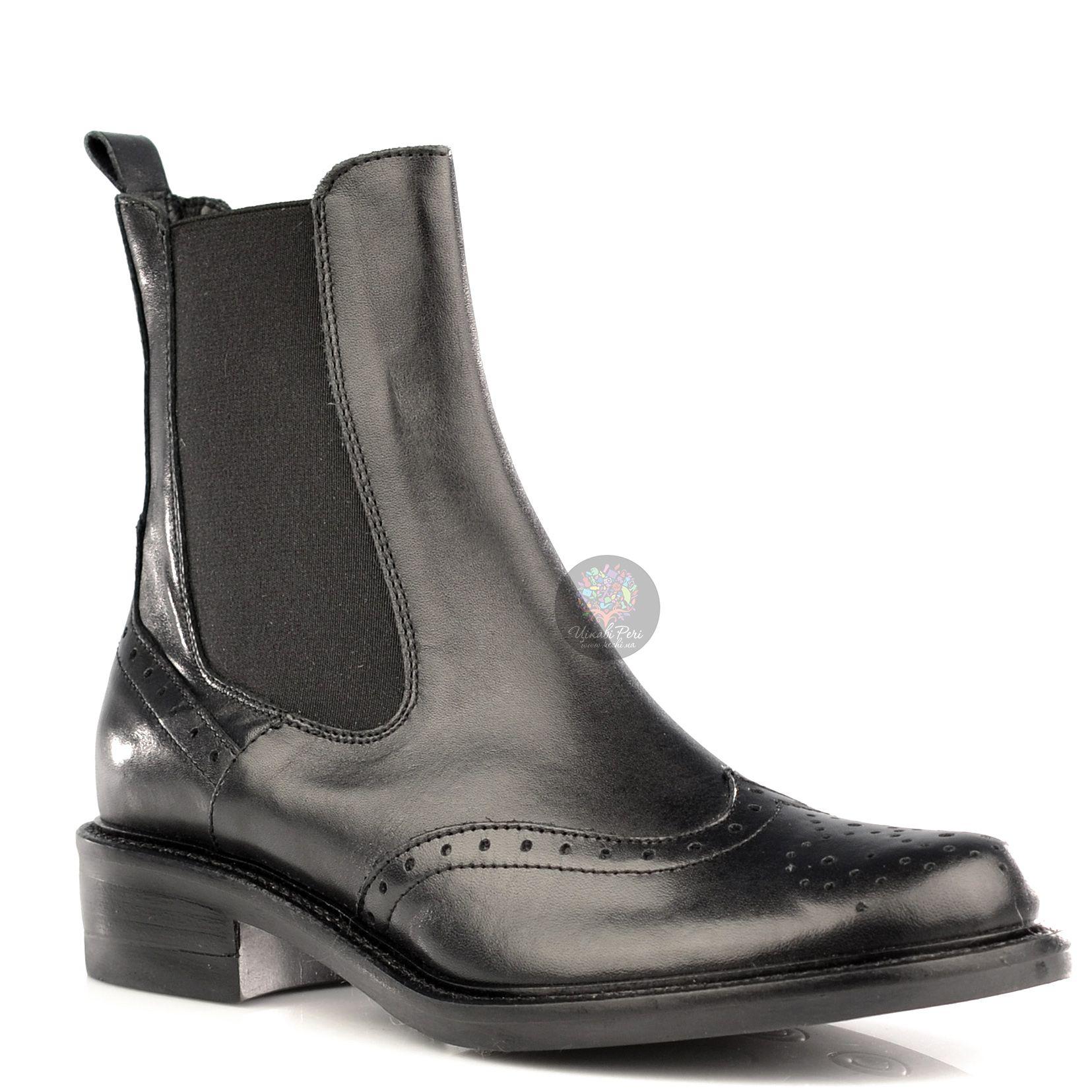 Ботинки Bluzi черные кожаные в тренде Back-To-School