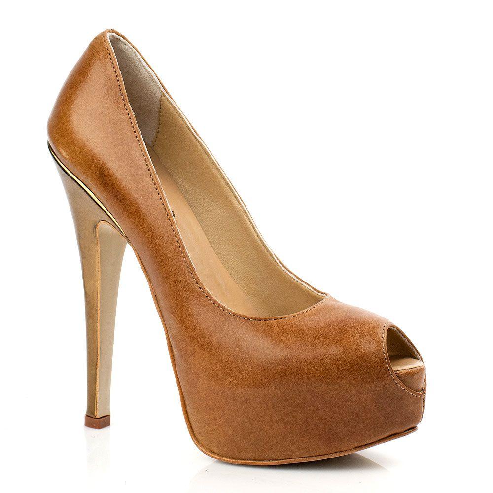 Элегантные туфли Bluzi горчичного оттенка