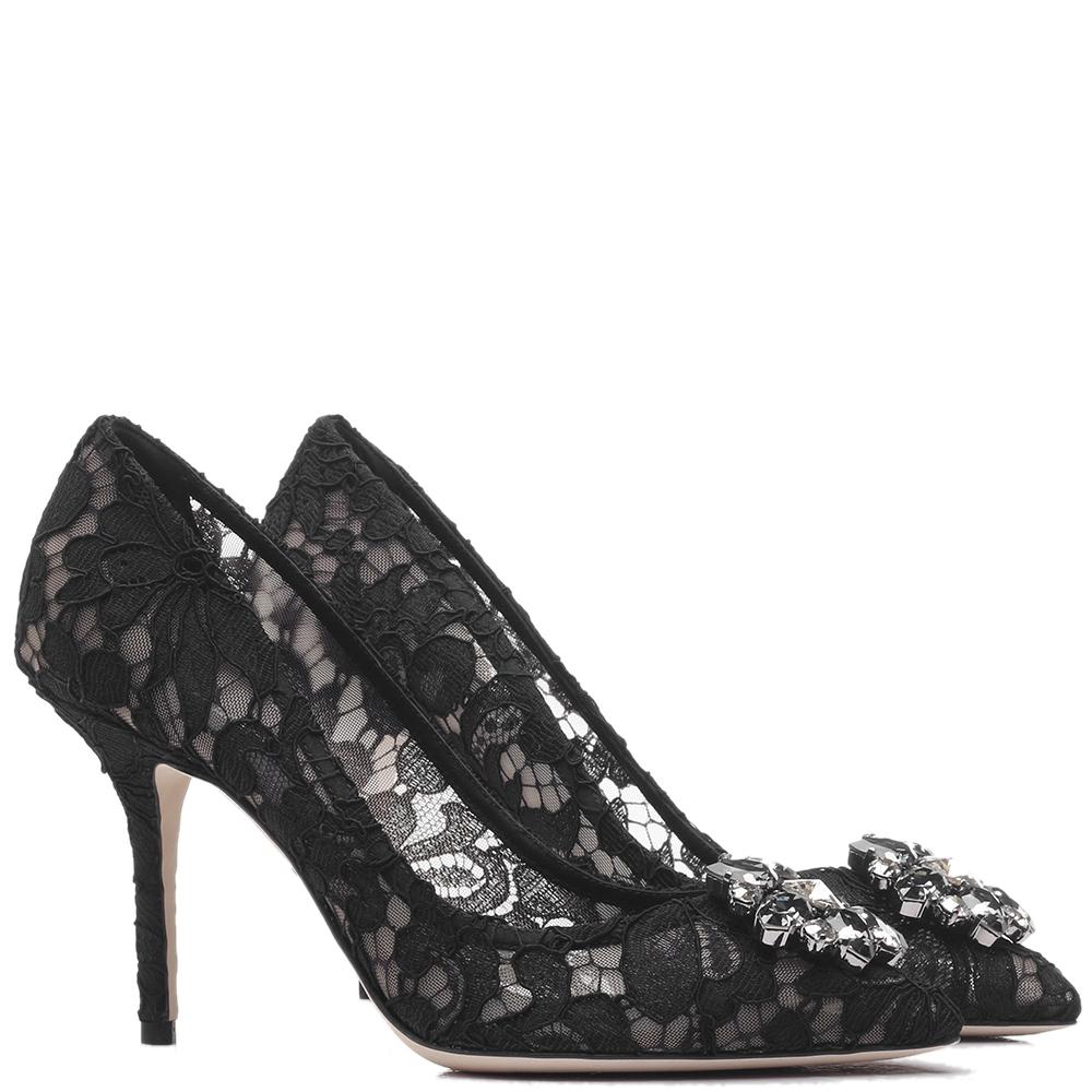 Кружевные туфли Dolce&Gabbana на шпильке