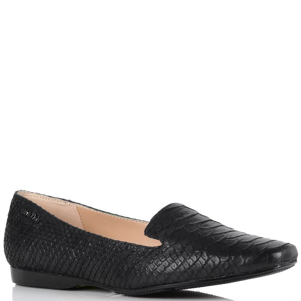 Спортивные туфли Calvin Klein черного цвета с имитацией кожи питона