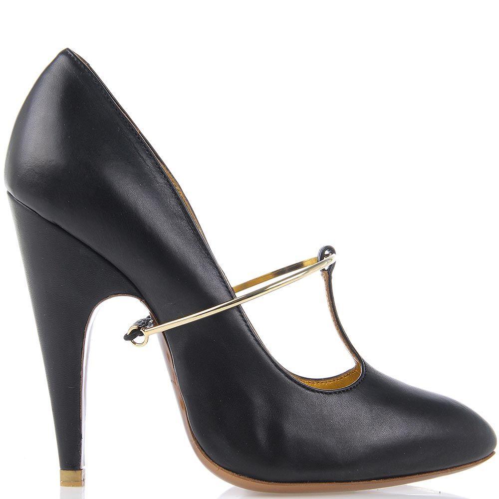 Женские туфли Giordano Torresi Corallo из кожи с золотистым декором
