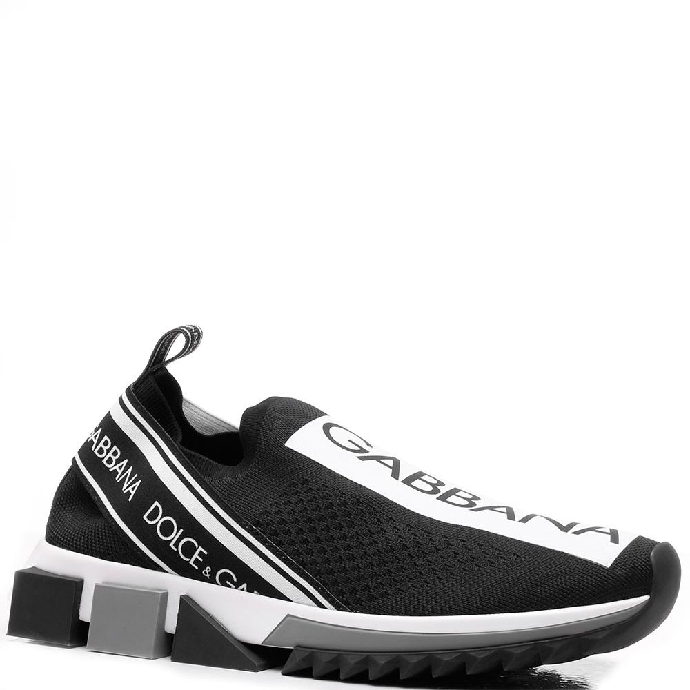 Черные кроссовки Dolce&Gabbana без шнуровки