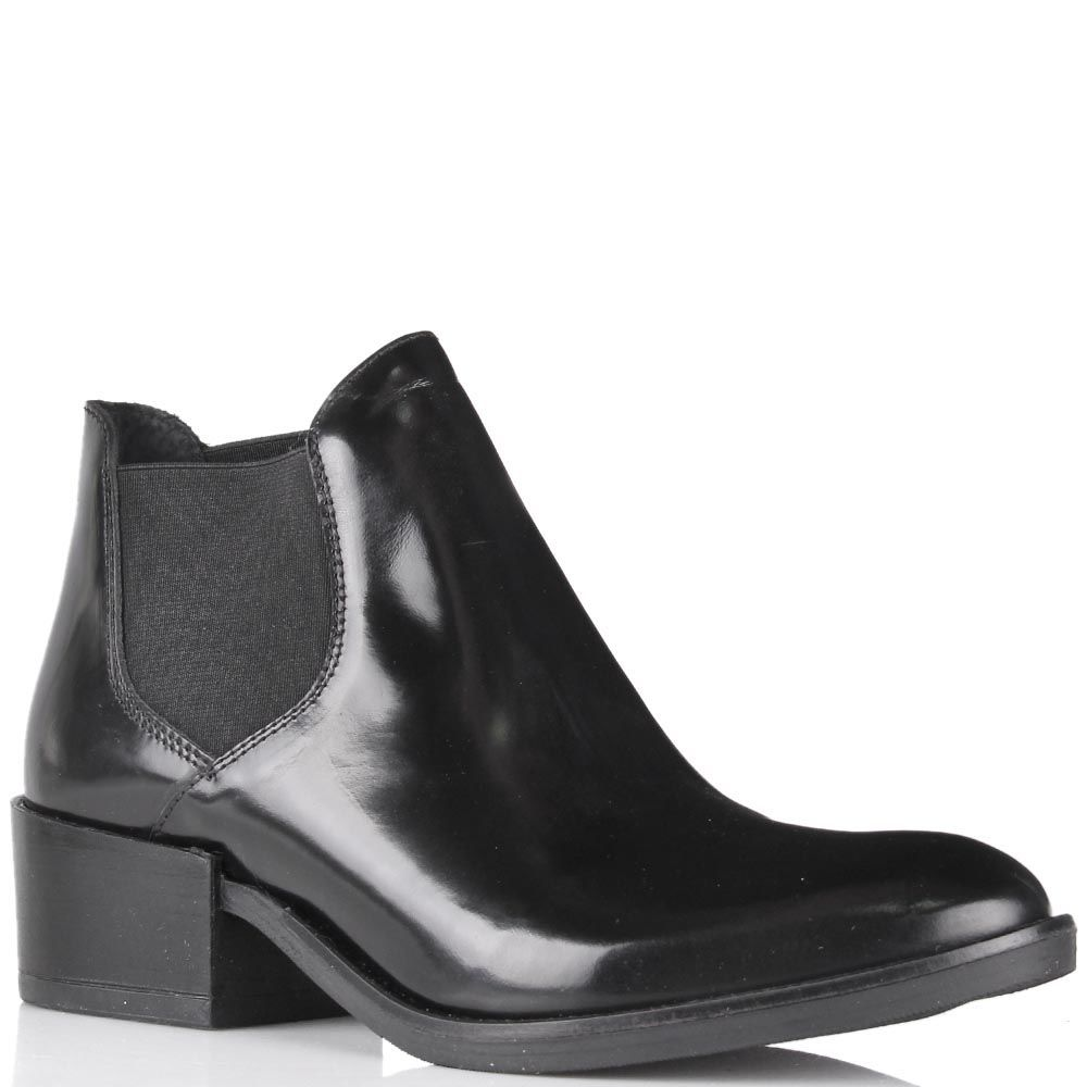 Ботинки-челси Ovye черного цвета из глянцевой кожи