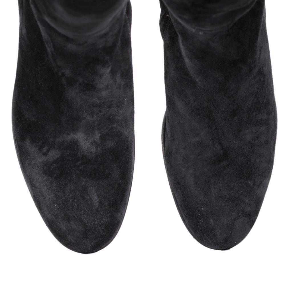 Сапоги The Seller JD зимние черного цвета замшевые на меху