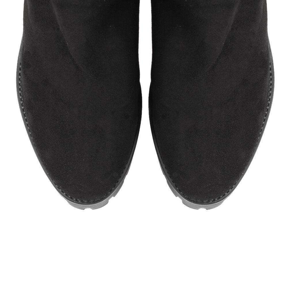 Высокие сапоги на меху The Seller JD черного цвета на рельефной подошве