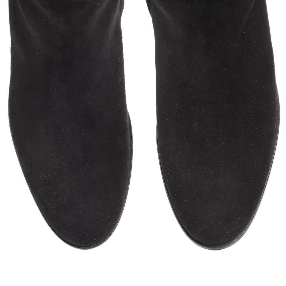 Сапоги The Seller JD зимние замшевые черного цвета на меху