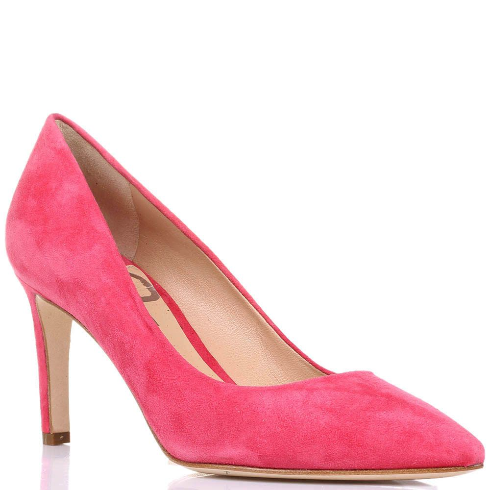 Замшевые туфли-лодочки The Seller JD пурпурно-розового цвета на шпильке