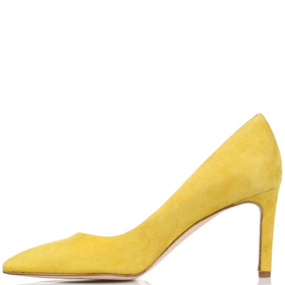 Туфли-лодочки The Seller JD из замши желтого цвета