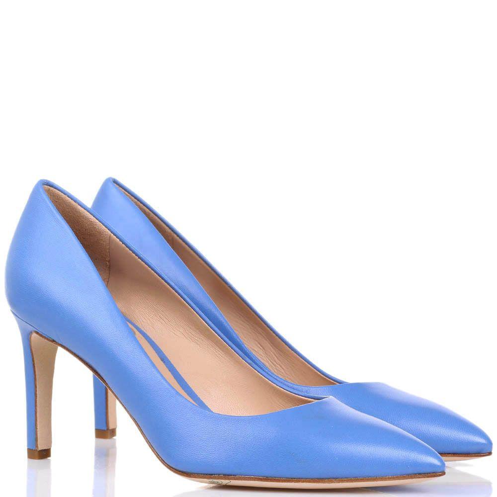 Туфли-лодочки The Seller JD синего цвета на средней шпильке
