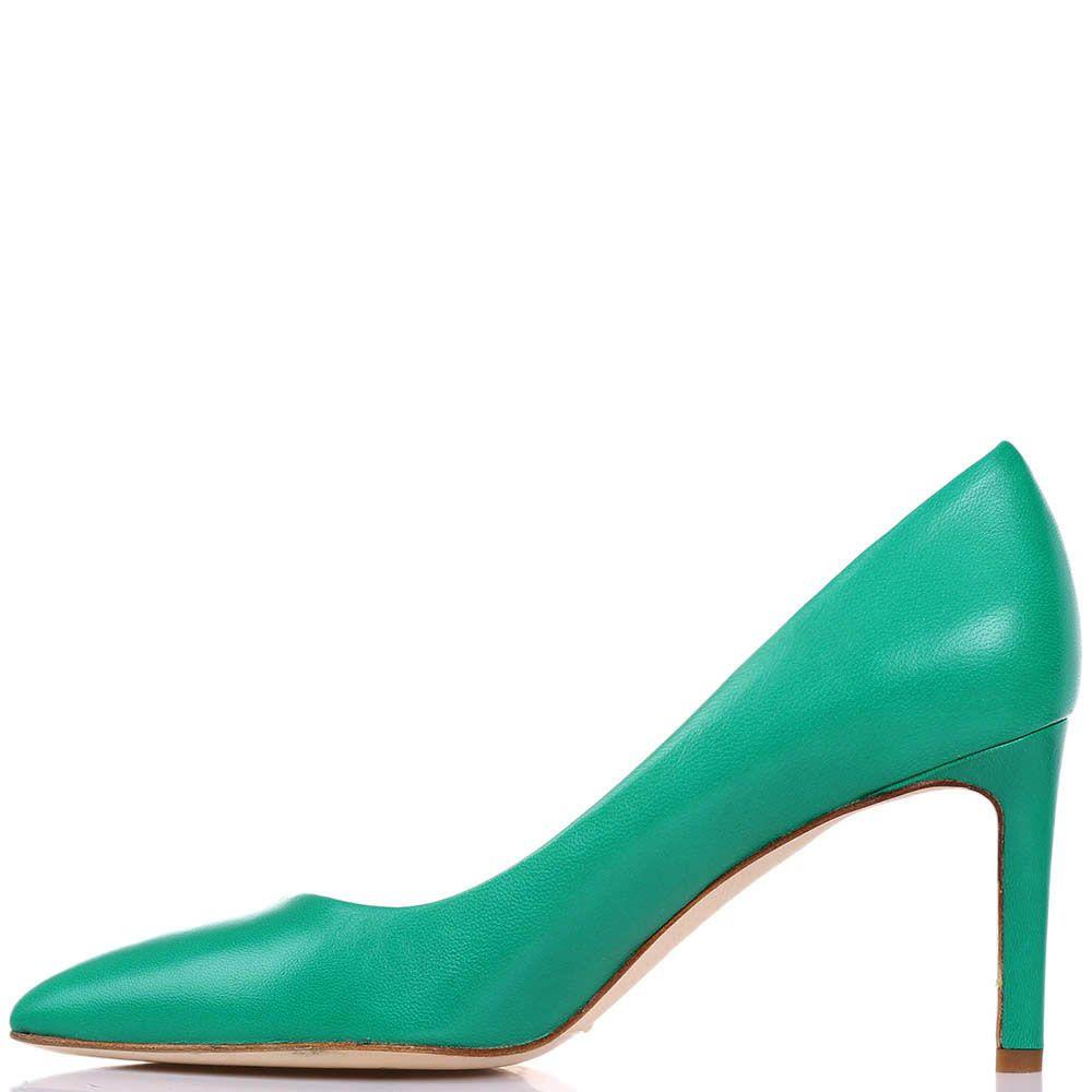 Туфли-лодочки The Seller JD из кожи зеленого цвета