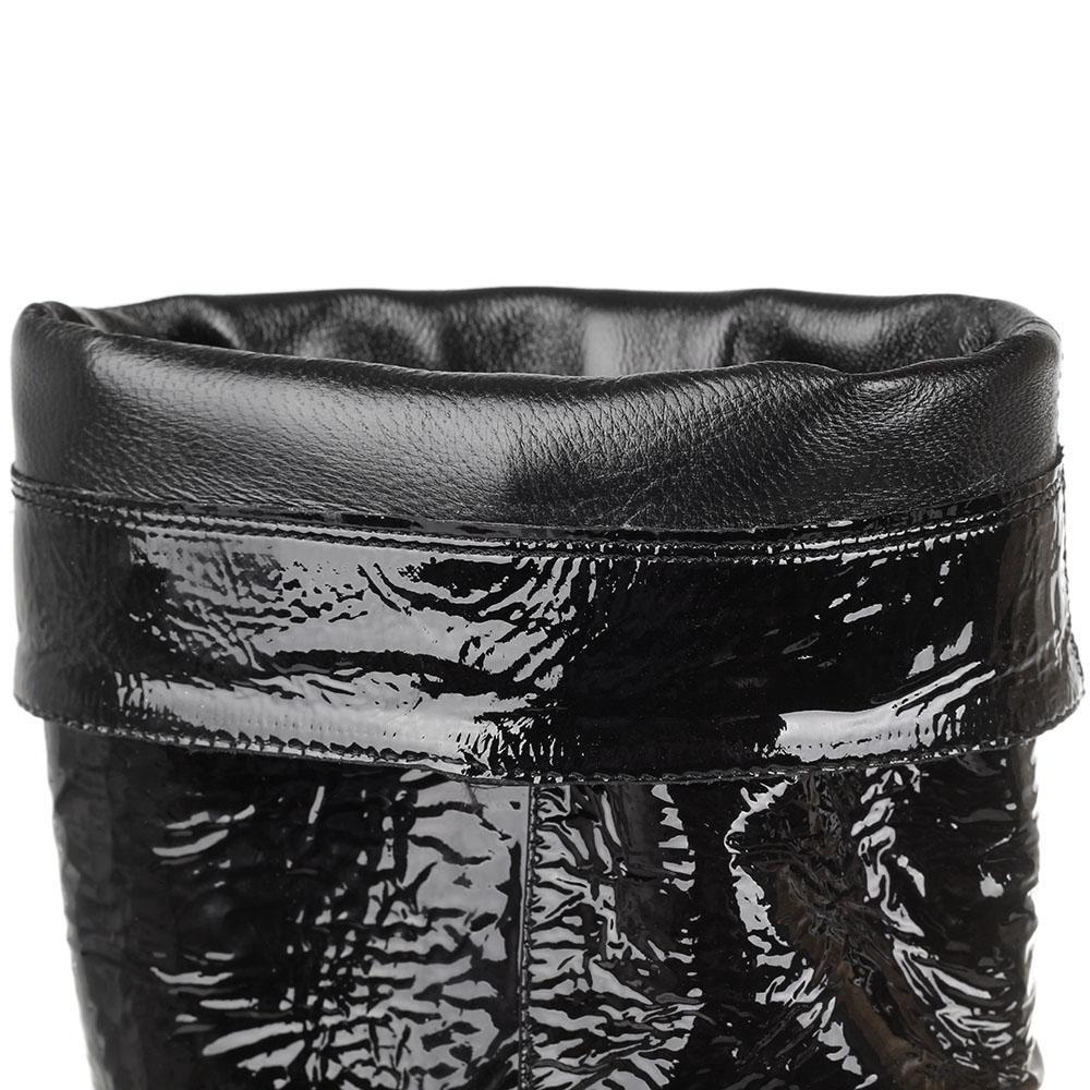 Cапоги из лаковой кожи The Seller JD черного цвета