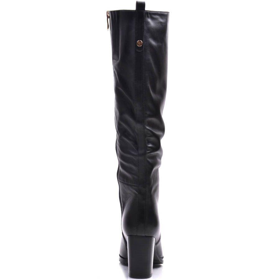 Сапоги Prego зимние кожаные на каблуке квадратной формы высотой 7 см