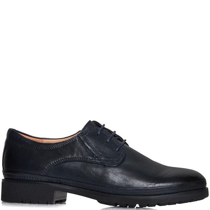 Женские туфли Prego синего цвета на низком ходу