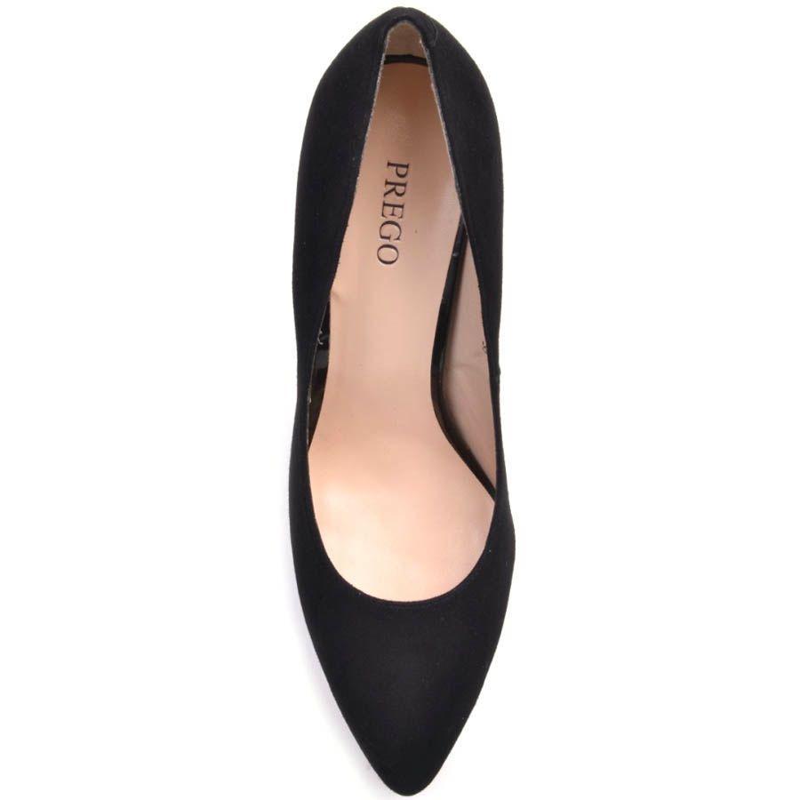 Туфли-лодочки Prego замшевые черного цвета