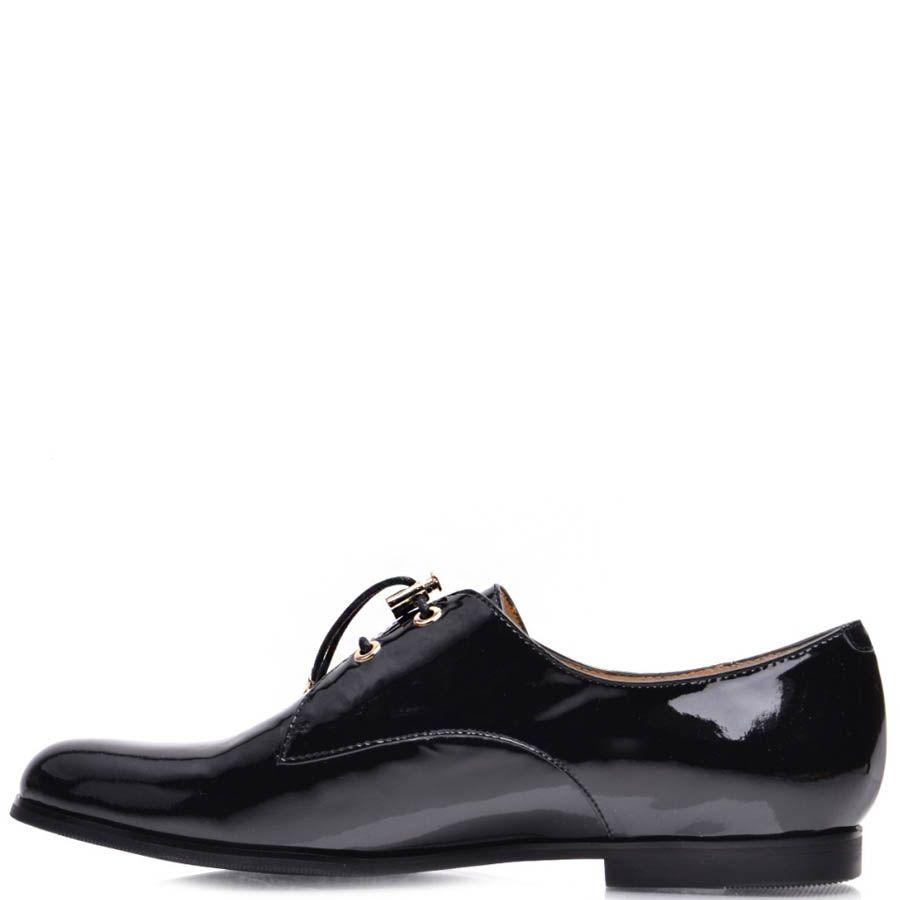 Туфли Prego женские лаковые со шнуровкой-резинкой