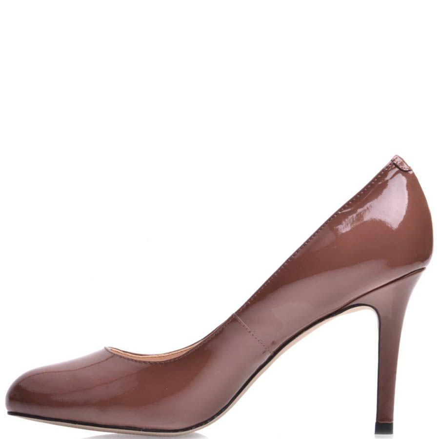 Туфли-лодочки Prego коричневого цвета лаковые