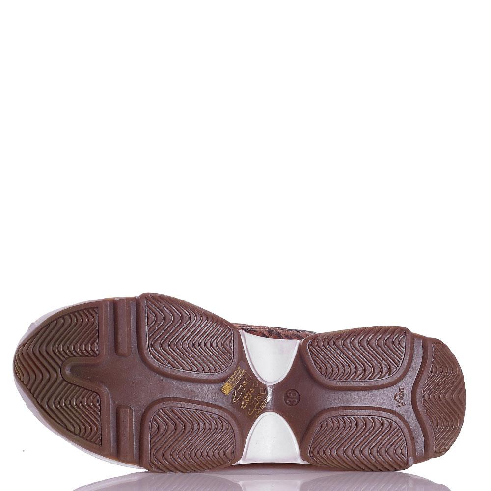 Кроссовки на толстой подошве Ovye by Cristina Lucchi с животным принтом