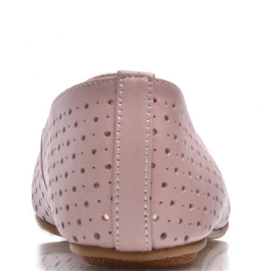 Балетки Prego розового цвета с мелкой круглой перфорацией