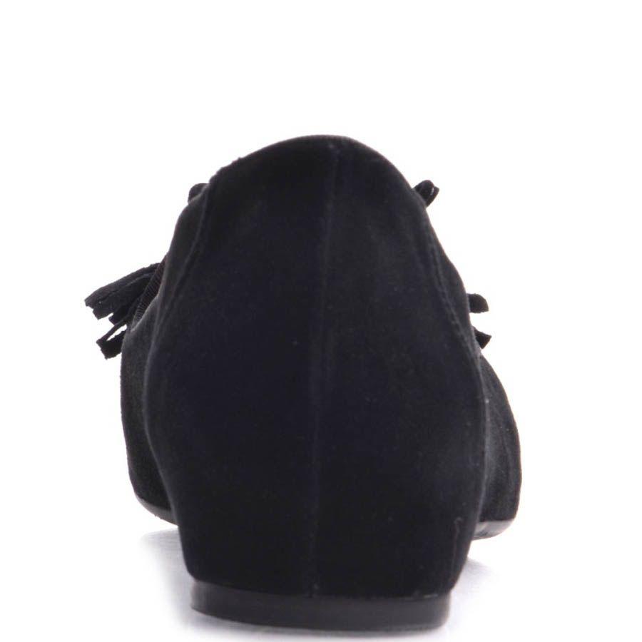 Балетки Prego замшевые черного цвета с кисточками