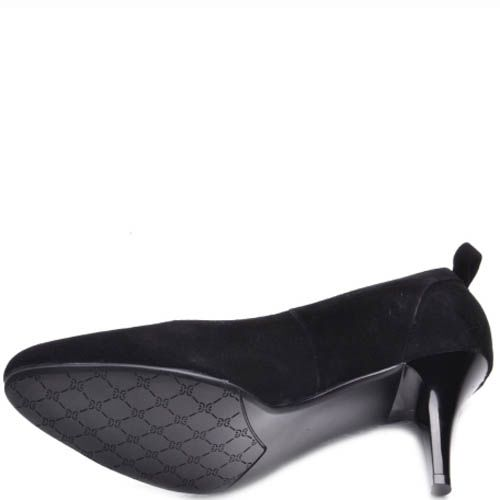 Туфли-лодочки Prego черного цвета замшевые
