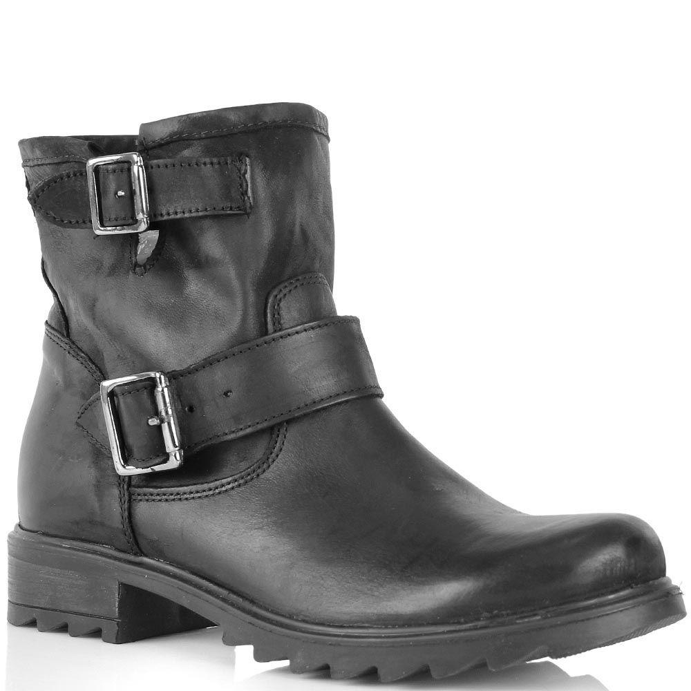 Ботинки Ovye черного цвета с пряжками