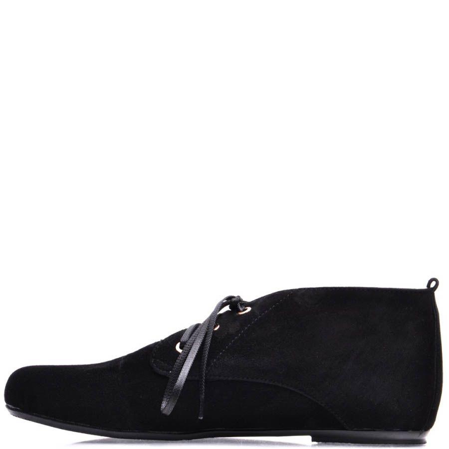 Туфли Prego женские на шнуровке из натуральной замши