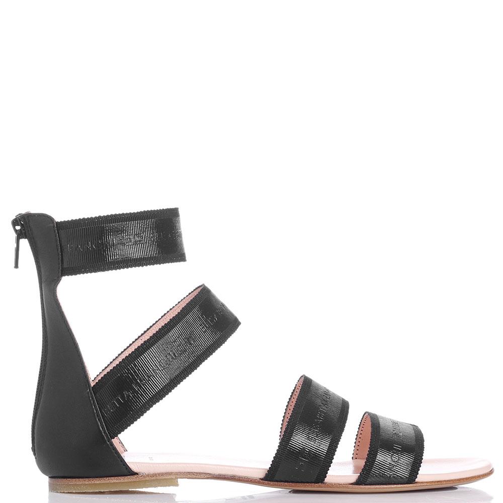 Сандалии Elisabetta Franchi черного цвета на молнии сзади