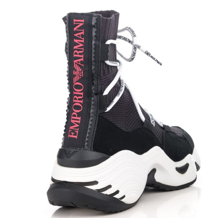 Кроссовки-чулки Emporio Armani на массивной подошве