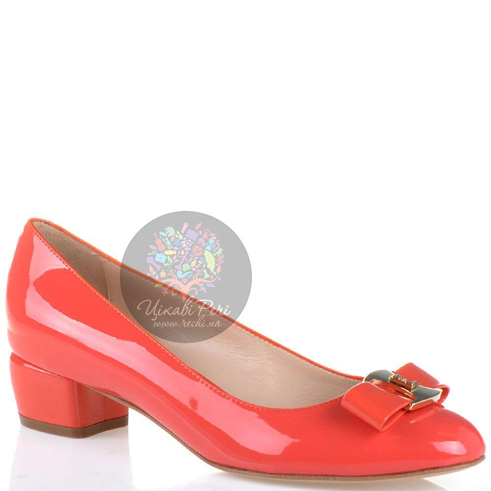 Туфли Essere кожаные лаковые светло-коралловые