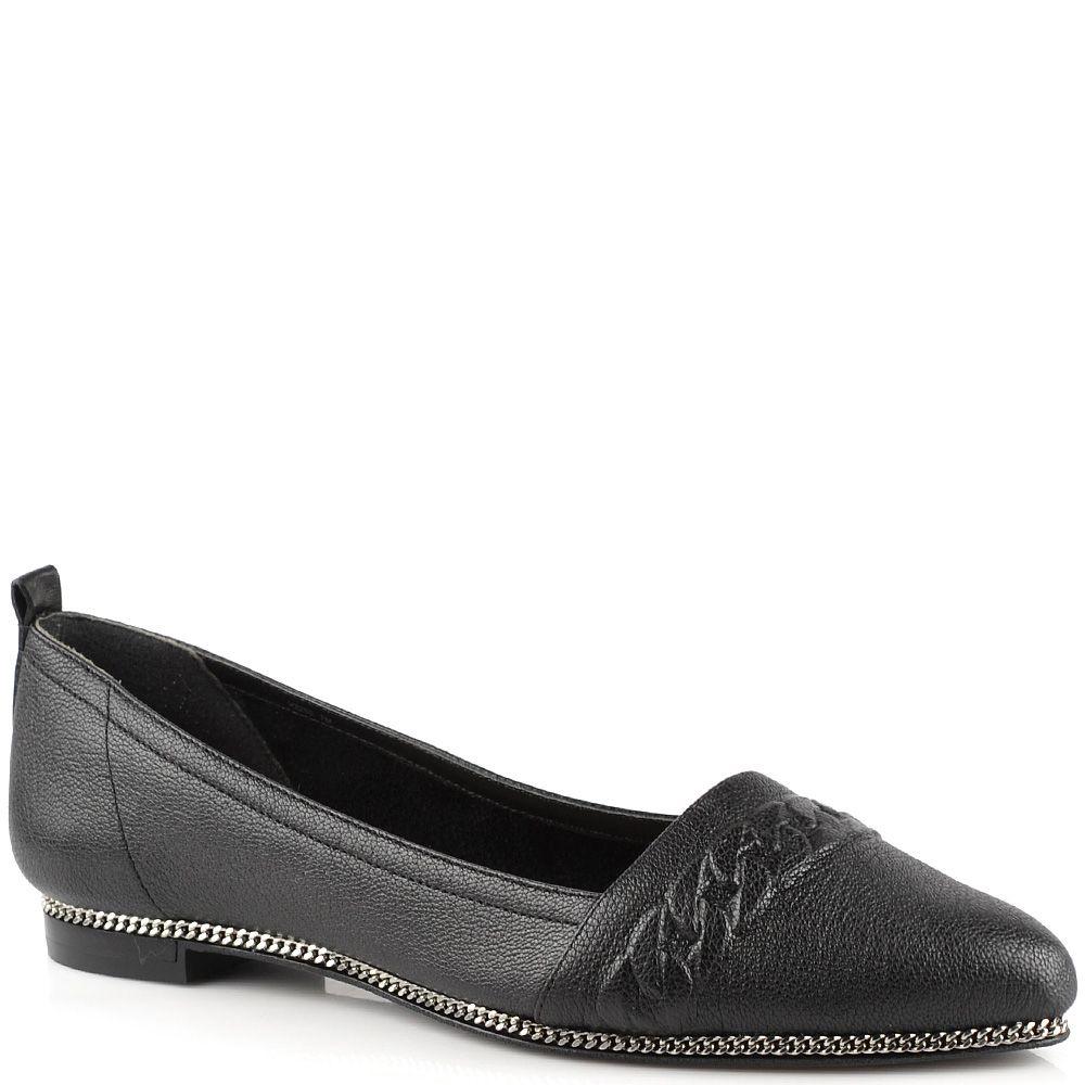 Туфли-эспадрильи Rachel Zoe кожаные черные с цепью