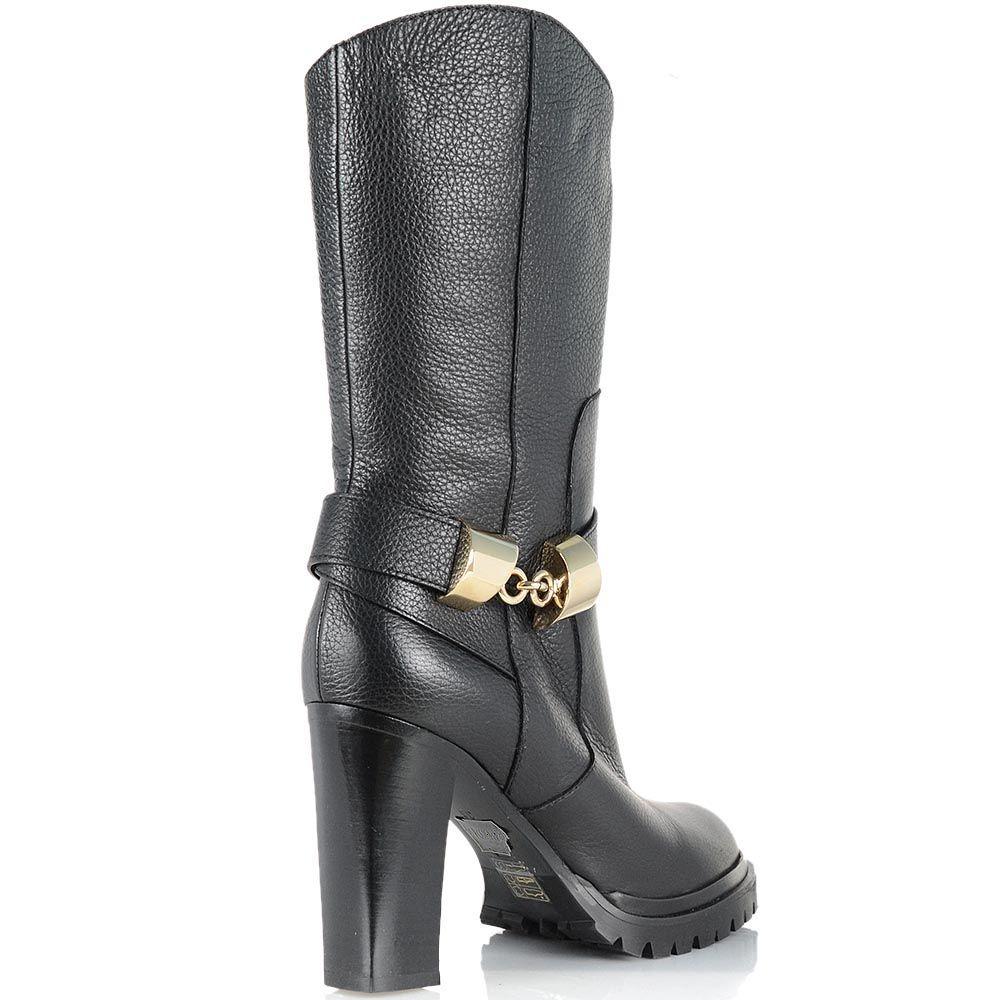 Демисезонные женские ботинки Giorgio Fabiani с округлым верхним срезом на устойчивом каблуке