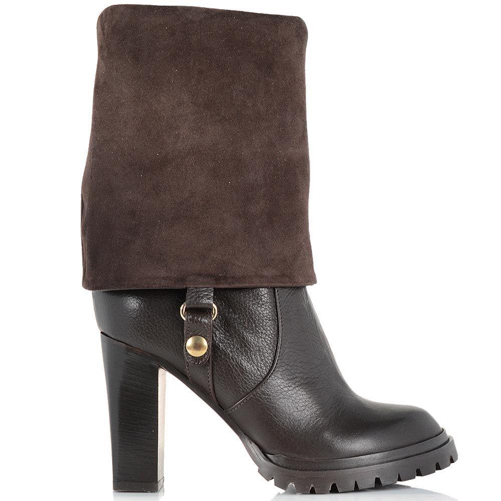 Женские ботинки-трансформеры Giorgio Fabiani шоколадного цвета