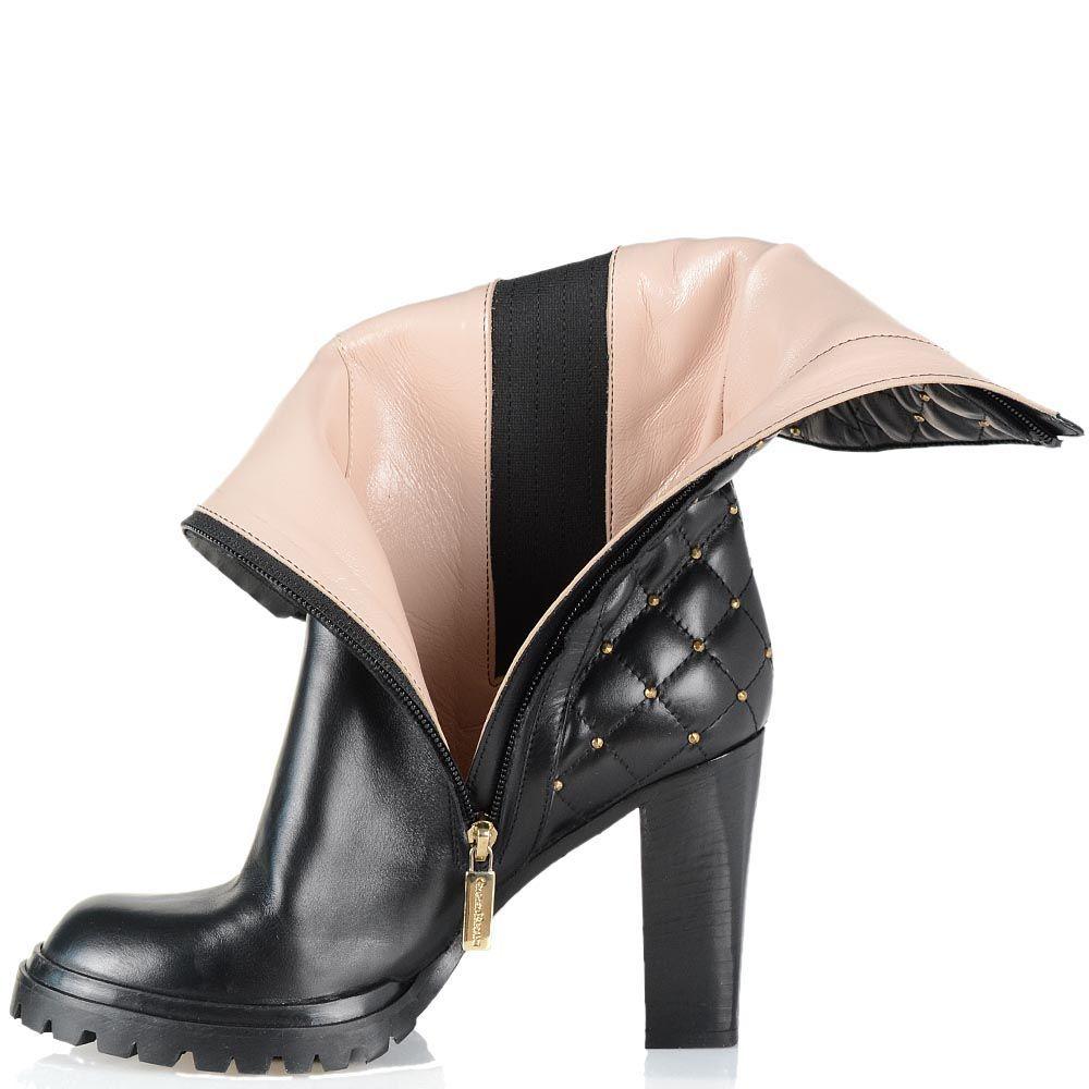 Завышенные ботинки Giorgio Fabiani с геометрической стежкой